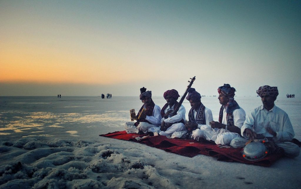 Festival look at Rann of Kutch desert